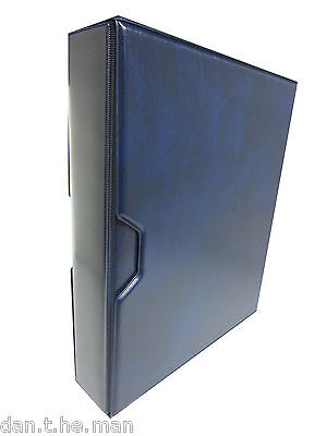 Blue Britannia Stamp Album / Binder & Slipcase - 4 'd' Ring - Spine Pocket