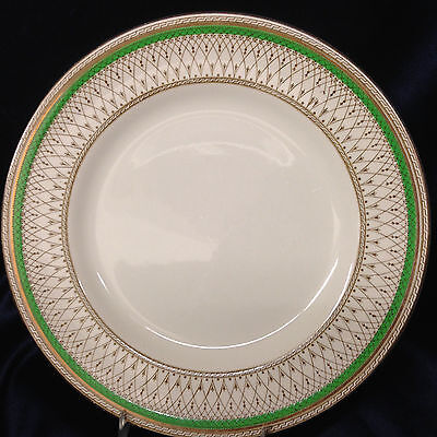 """Meakin J&g Sol Westminster Green Band Dinner Plate 9 7/8"""" England"""