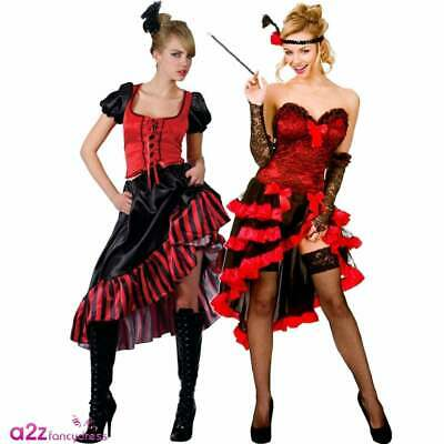Ladies Sexy Burlesque Wild West Showgirl Can Can Moulin Rouge Fancy Dress Outfit