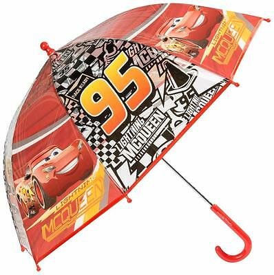Disney Cars Boys Red Umbrella Kids School Bubble Brolly Gift Dome Windproof New
