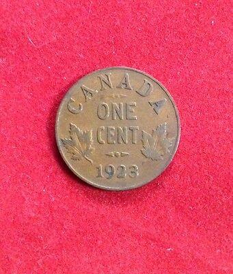 1923 Canada One Cent - Semi Key Date - Scarce - George V