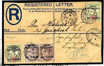 W01a 1893	Oil Rivers Stationery Registered Old Calabar River/Liverpool