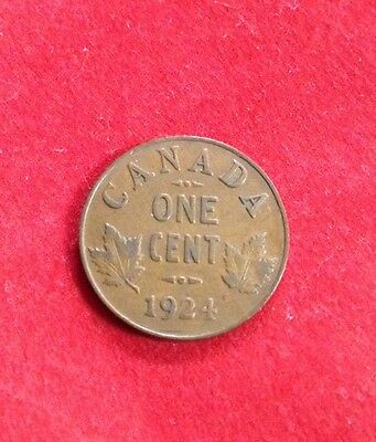1924 CANADA CENT - SEMI KEY! George V - Canadian Penny