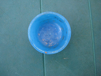 Antique Chinese Blue Glass Ginger Jar Lid or Cup Early and Rare