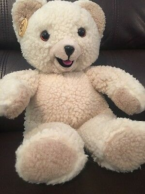 """Vintage Plush Russ Snuggle Lever Bear 1985 Official With Plastic Hang Tag 13"""""""