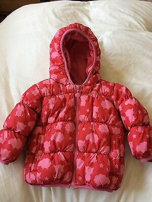 girls next shower resistant padded coat 9 - 12months