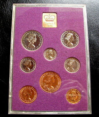 1970 United Kingdom Proof Set, GEM, Elizabeth R, (8) Coins