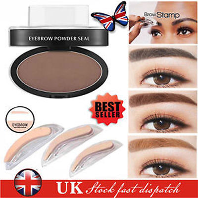 New Eyebrow Shadow Definition Makeup Brow Stamp Powder Palette UK STOCK