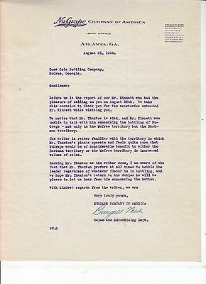 NuGRAPE COMPANY OF AMERICA HOME OFFICE ATLANTA GA. LETTERHEAD DATED AUG. 31,1928