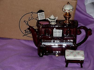 Teapottery Grand Hotel large piano teapot with stool boxed