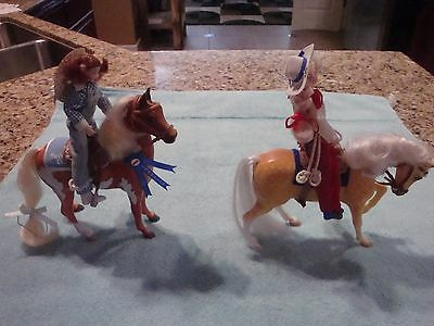 Breyer Pony Lot. Dapples And Oatmeal With Riders