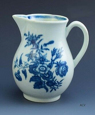 Lovely Antique 1775-90 Worcester Blue and White Creamer Pitcher