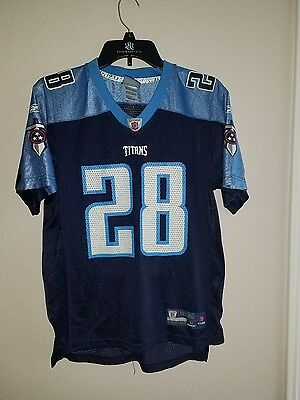 TENNESSEE TITANS NFL Chris Johnson Jersey #28 Size L 14 16 Blue Sewn  supplier