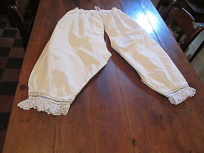 Antique Victorian Knickers Bloomers with Crochet Lace trim