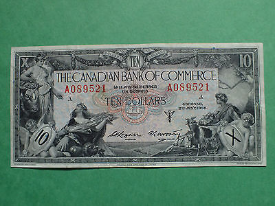 1935 , 10 Dollars,  The Canadian  Bank of Commerce,  # A089521