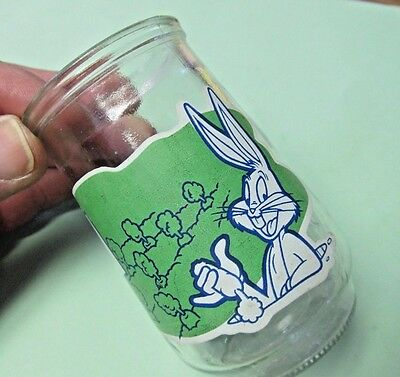 """Vintage 1994 Welchs Looney Tunes Bugs Bunny Jelly Juice Glass """"Thats All Folks"""""""