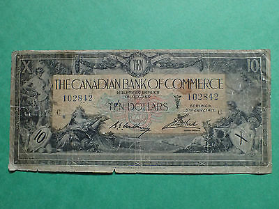 1917 , 10 Dollars,  The  Canadian Bank of Commerce ,Large banknote,  #102842