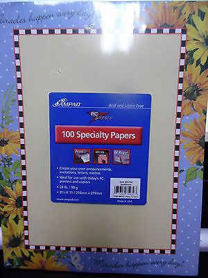 "AMPAD Paper SUNFLOWER DESIGN 100 SHEETS LETTERHEAD 8-1/2 X 11""  SIZE New"