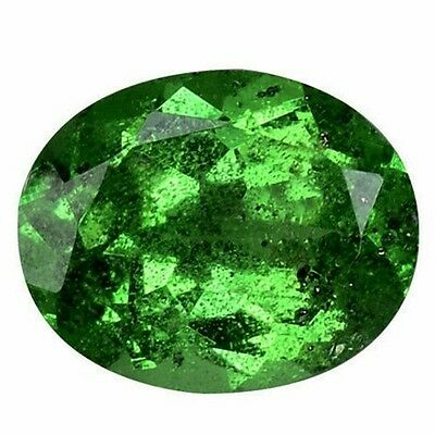 NATURAL FOREST GREEN TSAVORITE GARNET LOOSE GEMSTONES (4.7 x 3.7 mm) OVAL SHAPE