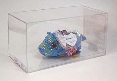 Authenticated TY Teeny Tys CHASER V #5 UK EXCLUSIVE BABY BLUE Dragon ULTRA RARE!