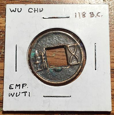 118 Bc Ancient China Emperor Wu Of Han Cash Coin