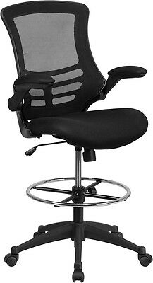 Mesh Back Mesh Fabric Seat Home Office Drafting Bar Counter Stools Chairs W-Arms