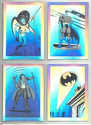 "1991 Robin III BOX SET ""Complete Set"" of 4 HOLOGRAM Chase Cards (1-4) BATMAN"