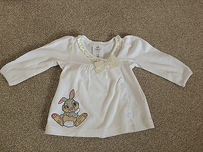 Disney Baby Girl Shirt Top with Rabbit Thumper and Bow Size 6-9 Months