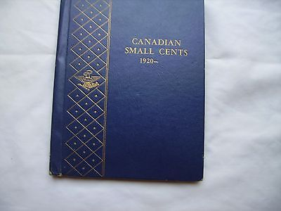 Canada Small Cents Collection 1920 to 1999 in Whitman Bookshelf Album