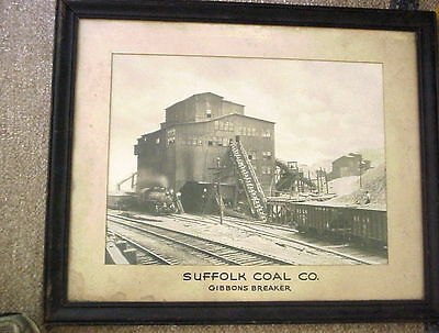SUFFOLK COAL CO GIBBONS BREAKER 14 1/2 x 19 1/2 PHOTO DL&W Circa 1900