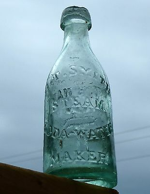 Antique 1867 Toronto, Ontario blob top soda bottle 'H.T.SMITH' BIMAL* FREE SHIP!