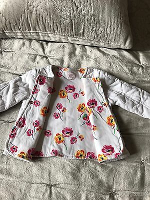 Baby Girl Ted Baker Reversible Floral & White Jacket Occasion Wedding 9-12mths