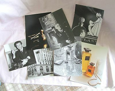 Vtg Grouping 7 Lanvin Perfumes Publicity Photographs—1970s