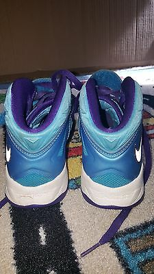 Nike Size 4Y Boy Tennis Shoes Blue and Purple