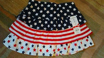 NWT Jumping Beans skirt 3T Skort Shorts Red white blue stars 4th of July Summer