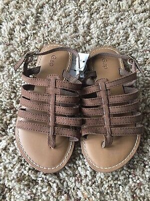 Baby Gap Toddler Girls Brown Strappy Sandals Shoes NWT Size 12