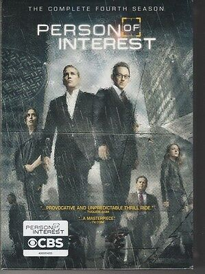 BRAND NEW Person of Interest: The Complete Fourth Season (DVD, 2015, 6-Disc Set)