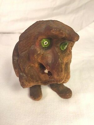 Vintage Hand Carved Wooden Troll Made in Norway