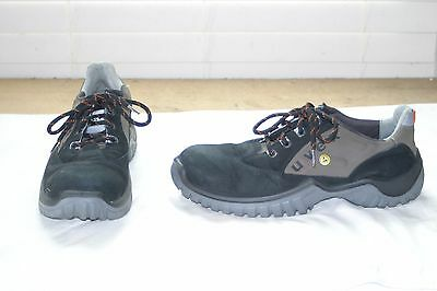 UVEX Safety Steel Toe Shoes Boots Black Leather Men's Size 13 made in Italy Nice
