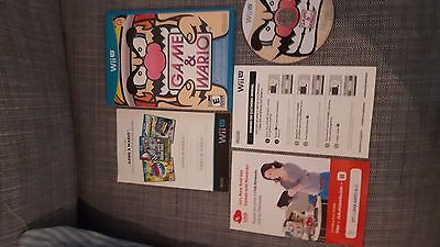 Game and Wario wii u complete in like new condition!