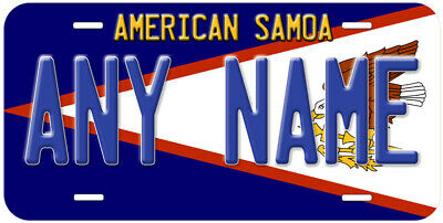 American Samoa Flag Personalized Any Text Novelty Car License Plate
