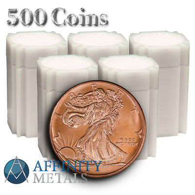 500 Coins- Monster Box of Walking Liberty .999 Pure Copper Bullion Rounds