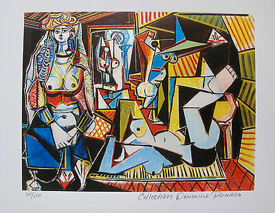 Pablo Picasso WOMEN OF ALGIERS Estate Signed Limited Edition Giclee Medium Size