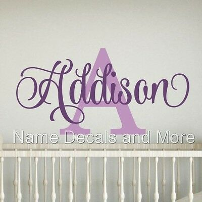 Girls Personalized Name Vinyl Wall Decal Sticker Decor Kids Bedroom Nursery