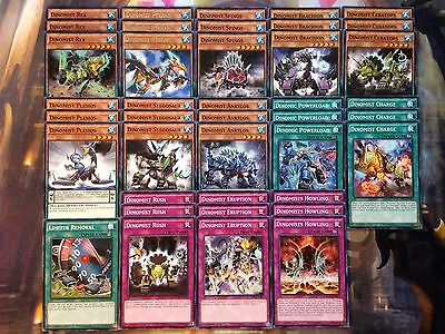 Yugioh Tournament Ready To Play Dinomist 40 card Deck Rex Pteran Howling NM