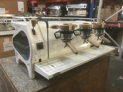 Coffee Machine Espresso 3 Group La Marzocco Strada Ep Used No Mazzer Grinder