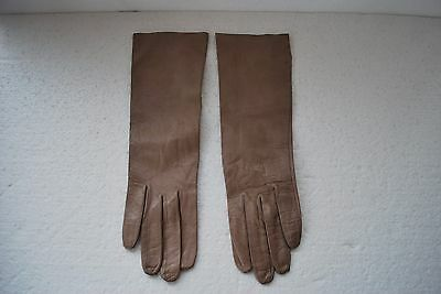 Vintage Gloves CARESS KID Womens tan size 6.5 washable kid leather
