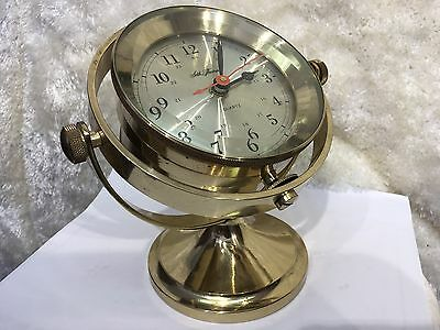 Antique 1987 Solid Brass 1044 Seth Thomas Ships Clock  Usa Georgia Working