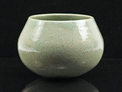 Antique Celadon Chinese Porcelain Monk bowl/brush washer/pot