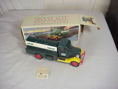 First Hess Truck Toy Bank In Original Box 1980